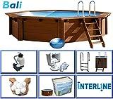 Interline 50700210 Bali Auf-und Erdeinbau Holzwand Rund...
