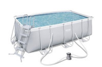 Bestway Power Steel Rectangular Pool 412 x 201 x 122 cm