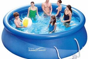 Quick Up Pool im Garten aufstellen: Das ist zu beachten!